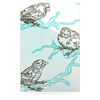 KESS InHouse Birds in Trees by Sam Posnick Graphic Art Plaque