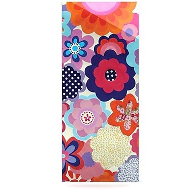 KESS InHouse Patchwork Flowers by Louise Machado Graphic Art Plaque
