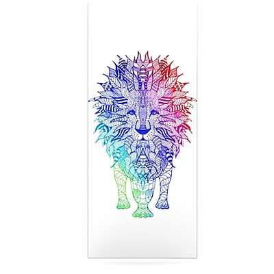 KESS InHouse Rainbow Lion by Monika Strigel Graphic Art Plaque; 20'' H x 16'' W