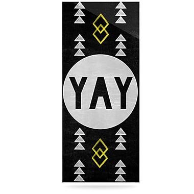 KESS InHouse Yay by Skye Zambrana Graphic Art Plaque
