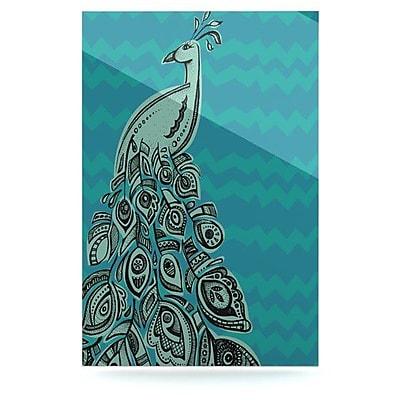 KESS InHouse Peacock by Brienne Jepkema Graphic Art Plaque; Blue