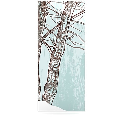 KESS InHouse Winter Trees by Sam Posnick Graphic Art Plaque