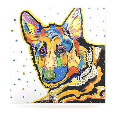 KESS InHouse Floyd by Rebecca Fischer Painting Print Plaque; 10'' H x 10'' W
