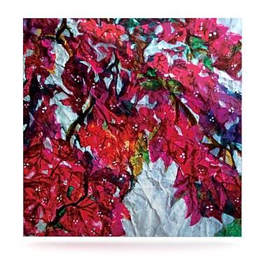 KESS InHouse Bougainvillea by Mary Bateman Painting Print Plaque; 10'' H x 10'' W