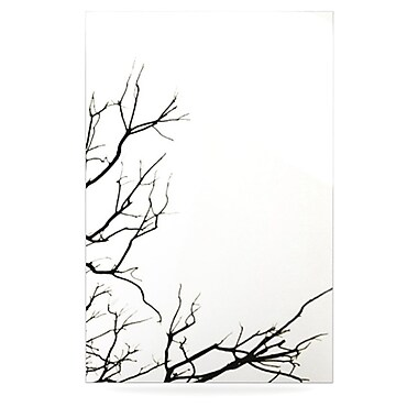KESS InHouse Winter by Skye Zambrana Graphic Art Plaque; White