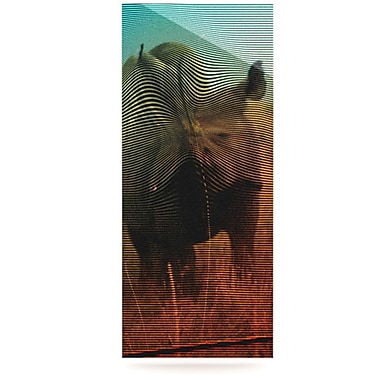 KESS InHouse Abstract Rhino by Danny Ivan Graphic Art Plaque