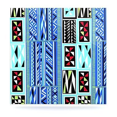 KESS InHouse ''American Blanket Pattern'' by Vikki Salmela Graphic Art Plaque; 10'' H x 10'' W