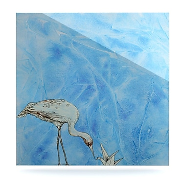 KESS InHouse Crane by Kira Crees Painting Print Plaque; 10'' H x 10'' W