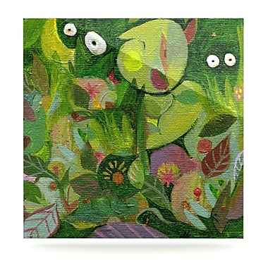 KESS InHouse Jungle by Marianna Tankelevich Painting Print Plaque; 10'' H x 10'' W