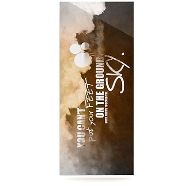 KESS InHouse Touch The Sky Graphic Art Plaque; 9'' H x 21'' W