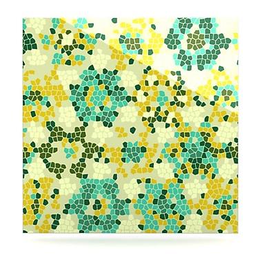 KESS InHouse Flower Garden Mosaic by Laura Nicholson Graphic Art Plaque; 8'' H x 8'' W