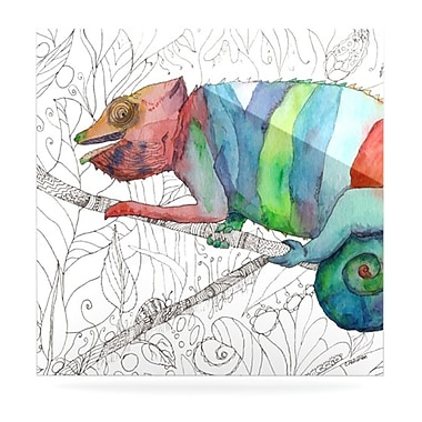 KESS InHouse Chameleon Fail by Catherine Holcombe Painting Print Shadow Boxes; 8'' H x 8'' W