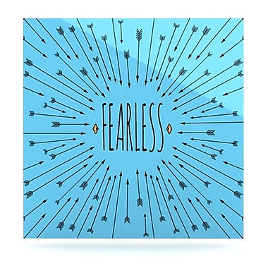 KESS InHouse Fearless by Skye Zambrana Graphic Art Plaque; 8'' H x 8'' W