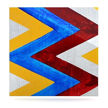 KESS InHouse Zig Zag by Brittany Guarino Graphic Art Plaque; 10'' H x 10'' W