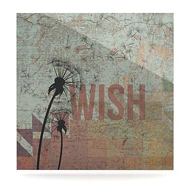 KESS InHouse Wish by Graphic Art Plaque; 10'' H x 10'' W