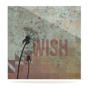 KESS InHouse Wish by Graphic Art Plaque; 10'' H x 10'' W