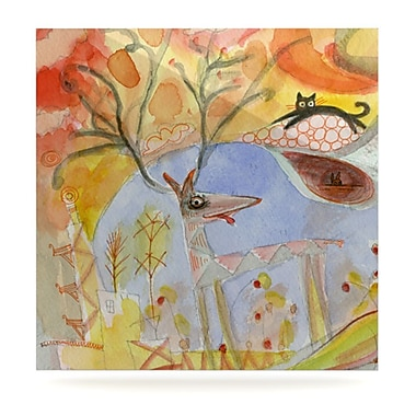 KESS InHouse Promise of Magic by Marianna Tankelevich Painting Print Plaque; 10'' H x 10'' W