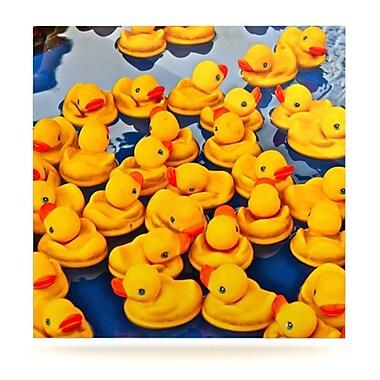 KESS InHouse Duckies by Maynard Logan Photographic Print Plaque; 8'' H x 8'' W