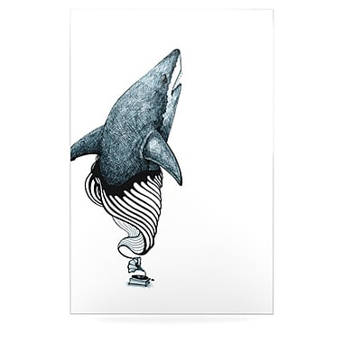 KESS InHouse Shark Record by Graham Curran Graphic Art Plaque; 36'' H x 24'' W