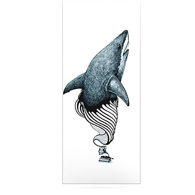 KESS InHouse Shark Record by Graham Curran Graphic Art Plaque; 21'' H x 9'' W