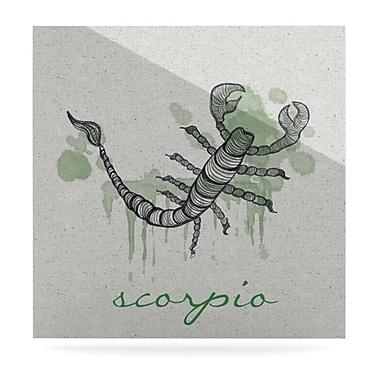 KESS InHouse Scorpio by Belinda Gillies Graphic Art Plaque; 8'' H x 8'' W