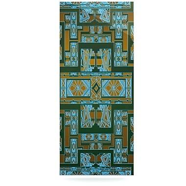 KESS InHouse Golden Art Deco by Nika Martinez Graphic Art Plaque; Green and Blue