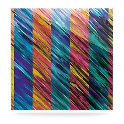 KESS InHouse Set Stripes I by Theresa Giolzetti Graphic Art Plaque; 10'' H x 10'' W