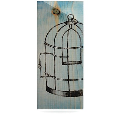 KESS InHouse Bird Cage by Brittany Guarino Graphic Art Plaque
