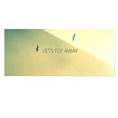 KESS InHouse Let's Fly Away by Richard Casillas Graphic Art Plaque