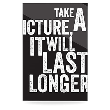 KESS InHouse Take a Picture by Textual Art Plaque
