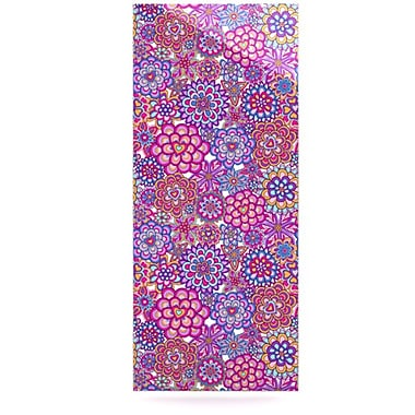 KESS InHouse My Happy Flowers by Julia Grifol Graphic Art Plaque; 21'' H x 9'' W