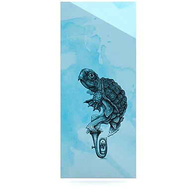 KESS InHouse Turtle Tuba III by Graham Curran Graphic Art Plaque; 21'' H x 9'' W