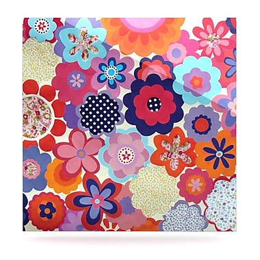 KESS InHouse Patchwork Flowers by Louise Machado Painting Print Plaque; 8'' H x 8'' W