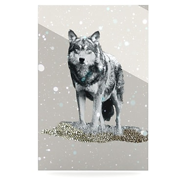 KESS InHouse Wolf by Monika Strigel Graphic Art Plaque; 36'' H x 24'' W