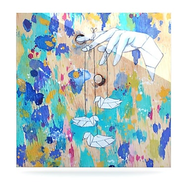 KESS InHouse Origami Strings by Kira Crees Painting Print Plaque; 8'' H x 8'' W