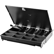 HP® Electronic Cash Drawer with Lockable Lid
