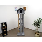 New Cat Condos 71'' Pagoda Cat Condo; Gray