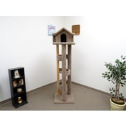 New Cat Condos 71'' Pagoda Cat Condo; Brown