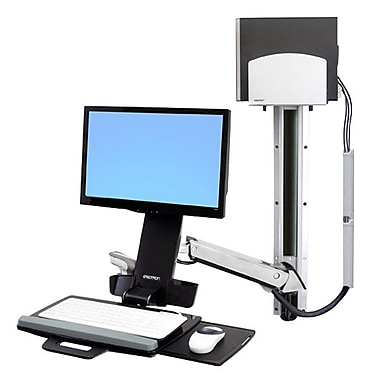 Ergotron® Styleview® 45-271-026 Sit-Stand Combo System with Medium CPU Holder
