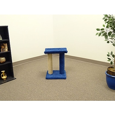 New Cat Condos 18'' Premier Sisal Rope Cat Scratching Post; Blue