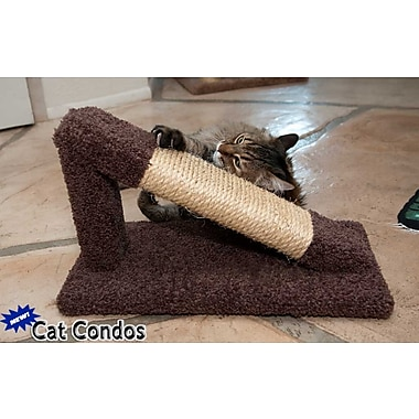 New Cat Condos 12'' Premier Tilted Scratching Post; Brown