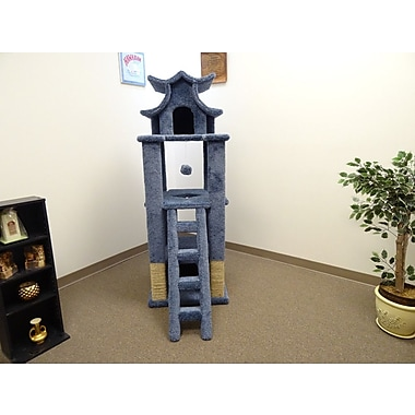 New Cat Condos 67'' Premier Designer Cat Tree; Blue