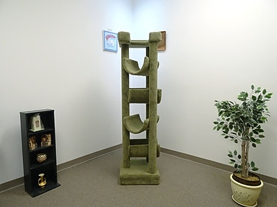 New Cat Condos 72'' Premier Cat Tree; Green