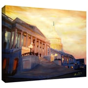 "ArtWall ""Capitol II"" Gallery Wrapped Canvas Art By Martina and Markus Bleichner, 16"" x 24"""