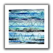 "ArtWall ""Ocean"" Unwrapped Flat Canvas Art By Maria Carluccio, 18"" x 18"""