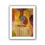 """ArtWall """"Acoustic Guitar"""" Unwrapped Canvas Art By Michael Creese, 18"""" x 14"""""""