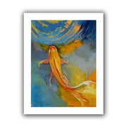 """ArtWall """"Butterfly Koi"""" Unwrapped Canvas Arts By Michael Creese"""