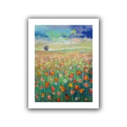 """ArtWall """"Dancing Poppies"""" Unwrapped Canvas Arts By Michael Creese"""