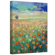 "ArtWall ""Dancing Poppies"" Gallery Wrapped Canvas Arts By Michael Creese"