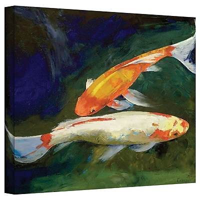"ArtWall ""Feng Shui Koi Fish"" Gallery Wrapped Canvas Art By Michael Creese, 36"" x 48"""